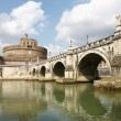 Bridge and Castle Sant Angelo,Roma - Stock Photo