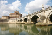 Bridge and Castle Sant Angelo,Roma — Stock Photo