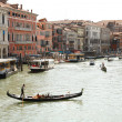 Gondolas floating on the canals of Veni — Stock fotografie