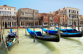 A classic view of Venice with canal and old buildings, Italy — Stock Photo