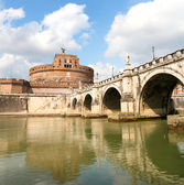 Rome: Castel and Bridge Saint Angelo — Stock Photo