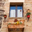 Romantic window in Venice — Stock Photo