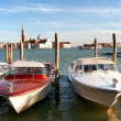Water taxi on the Grand canal in Venice — Stock Photo