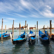 Godolas in Venice in Italy - Stock Photo