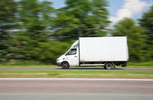 Driving van speed — Stock Photo