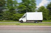 Driving van speed — Stock Photo
