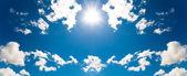 Yaz gökyüzü güneş — Stok fotoğraf