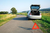 Car accident on the country road — Stock Photo
