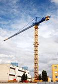 La grúa de construcción. — Foto de Stock