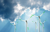 Wind power, eco energy — Stock Photo