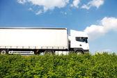 Grote witte vrachtwagen — Stockfoto