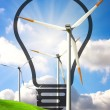 Foto Stock: Wind energy concept