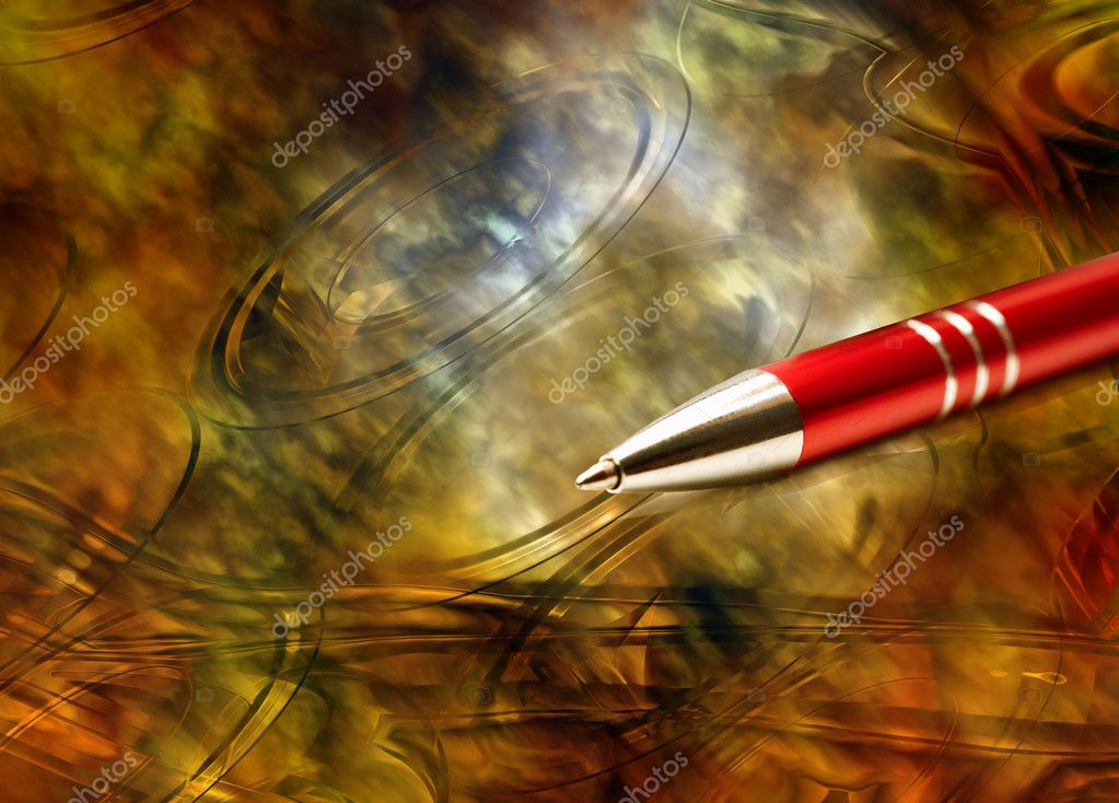 Antique background and contemporary pen — Stock Photo #2719497