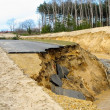 Flooding and destruction — Stockfoto