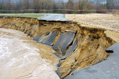 Flooding and destruction — Stock Photo
