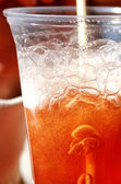 Cup with icy cold drink — Stock Photo