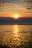 Golden sea sunset — Stock Photo