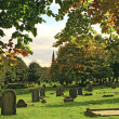 Stock Photo: Autumn cemetery