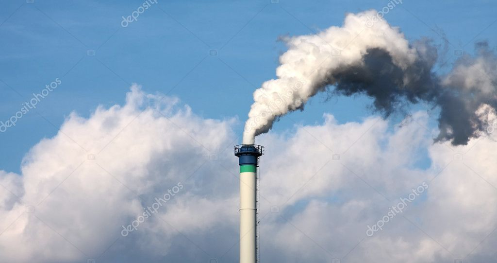 Industrial smoke from chimney  — Stock Photo #2826003