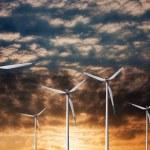 Windmill on sunset — Stock Photo