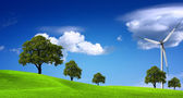 Green ecology panorama — Stock Photo