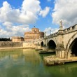 Castle on the Tiber in Rome,Italy — Stock Photo