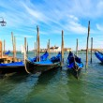 Gondolas at the Piazza San Marco — Stock Photo