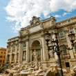 The Trevi Fountain in Rome - 图库照片