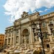 The Trevi Fountain in Rome — Stock Photo