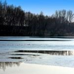 Frozen winter lake — Stock Photo