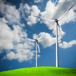 Royalty-Free Stock Photo: Wind turbines on blue sky