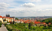 Red roofs, Prague panorama — Stock Photo