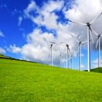 Wind turbines panorama — Stock Photo #3278018