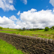 A dry stone wall in the Yorkshire - Stock Photo