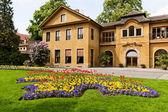 Beautiful spring park in Prague — Stock Photo