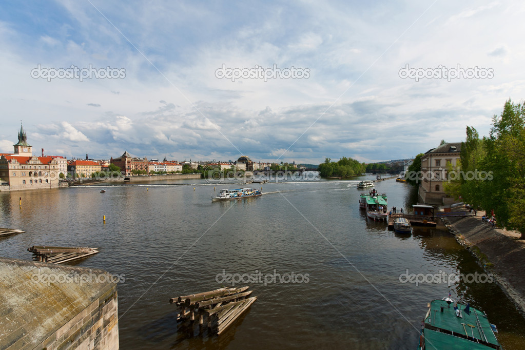 Vltava River in Prague — Stock Photo #3314370