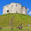 Clifford's Tower at York, England - Stock Photo