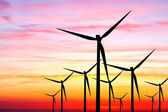 Wind farm sunset — Stock Photo