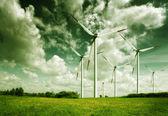 Wind turbines, ecology — Stock Photo