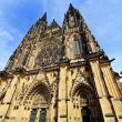 Front view of Saint Vitus cathedral,  Prague - Stock Photo