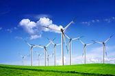 Wind turbines landscape — Stock Photo