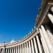 Colonnade of St. Peter's Basilica in Vatican — Stock Photo