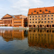 Architecture in harbor of Gdansk — Stock Photo #3755446
