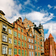 Gdansk city center, old town — Stock Photo