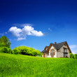 New family home in the mountains — Stock Photo