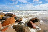 Stone sea coast — Stock Photo