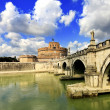 Tiber in Rome,Italy - Stock Photo