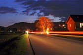Country Road at Night — Stock Photo