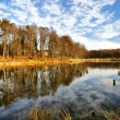 Beautiful autumnal lake — Stock Photo #3830529