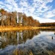 Beautiful autumnal lake — Stock Photo
